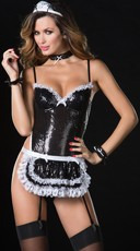 Sequin Maid Apron Set