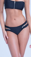 Zipper Side Bikini Bottom