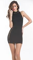 Lace Side Panel Mini Dress