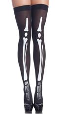 Glow In The Dark Skeleton Thigh Highs