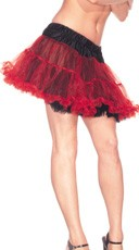 Reversible Red and Black Petticoat