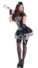 Deluxe Shaper French Maid Costume