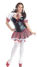 Plus Size Deluxe Shaper Schoogirl Costume