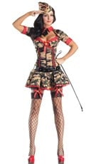 Plus Size Deluxe Army Cadet Costume