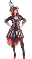 Plus Size Deluxe Pirate Costume