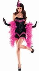 Pink Fringe Flapper Costume