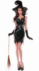 Liquid Black Witch Costume