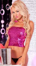 Provacative Multi-Purpose Sequin Tube Top Or Tube Skirt