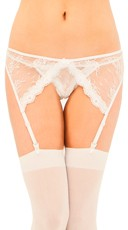 Stretch Lace Garter Belt And Panty Set