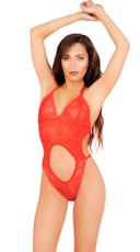 Red Cut Out Teddy