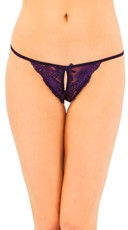 Crotchless Stretch Mesh G String