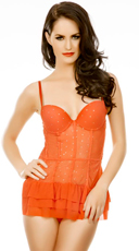 Pinup Girl Red Mesh Chemise