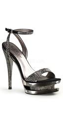 6 Inch Stiletto Heel, 1 1/2 Inch Dual Pf Wrap Ankle Strap Sandal