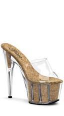 7 Inch Heel, 2 3/4 Inch Cork Filled Pf Slide