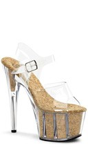 7 Inch Heel, 2 3/4 Inch Pf Ankle Strap Sandal