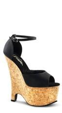 6 1/2 Inch Heel, 2 3/4 Inch Pf, Wedge Sandal