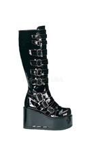 Goth Punk Buckled Gogo Boot