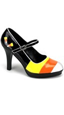 4 Inch Heel,candy Corn Mary Jane Costume Pump