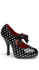 4 1/2 Inch Heel, 3/4 Inch Hidden P/f Open Toe Mary Jane W/ Bow