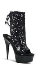 6 Inch Heel, 1 3/4 Inch Pf Open Toe/back Ankle Boot
