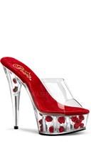 6 Inch Stiletto Heel Flower Filled P/f Slide
