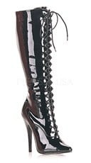6 Inch Lace-up Knee Boot, Side Zip