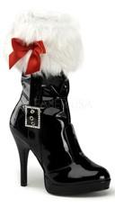 Sexy Santa Fur Cuffed Calf Boots