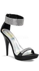 4 3/4 Inch Rhinestone Ankle Strap Stiletto Shoe