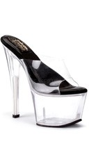6 Inch D Shaped Heel SOL Platform Slide