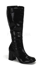"3"" Block Heel Sequin Knee Boot"