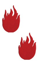 Red Flame Pasties