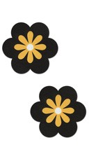 Black and Yellow Flower Pasties
