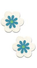 Blue and White Daisy Pasties