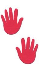 Hot Pink Hand Pasties