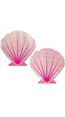 Glitter Pink Seashell Pasties