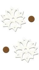 White Sparkly Snowflake Pasties