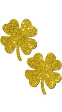 Glittering Gold Shamrock Pasties