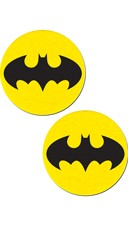 Black Bat and Yellow Circular Pasties