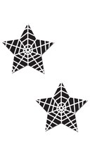 Black Web Star Pasties
