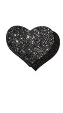 Dark Love Glitter Heart Pasties