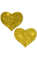 Gold Heart Glitter Pasties