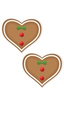 Gingerbread Heart Pasties