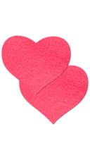 Neon Pink Day Glow Heart Pasties