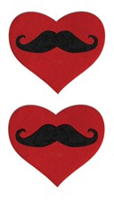 Red Heart Mustache Pasties
