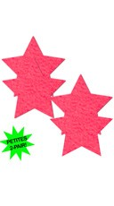 Small Neon Pink Star Pasties