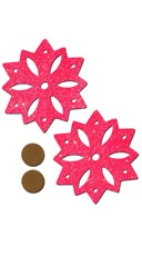 Red Sparkly Snowflake Pasties