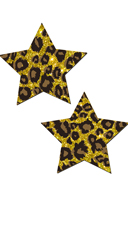 Glittery Star Cheetah Pasties