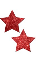 Red Glitter Star Pasties