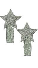 Silver Glitter Tassels