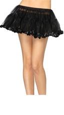 Petticoat With Pleated Satin Trim